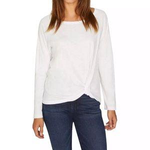 Sanctuary Womens Side Twist Front Basic T-Shirt XL